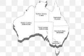Black And White Clear Three-dimensional Map Of Australia - Sydney Gold Coast Terra Australis Map U6e38u5b66u56e2 PNG