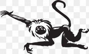 Monkey - Monkey Black And White Clip Art PNG