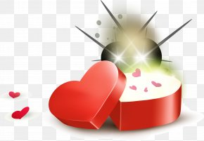 Red Love Gift Box - Red Love Gift Download PNG
