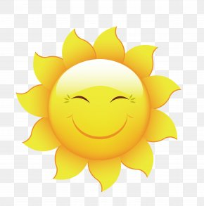 Summer Sun Design Vector Material - Cartoon Smiley Wallpaper PNG