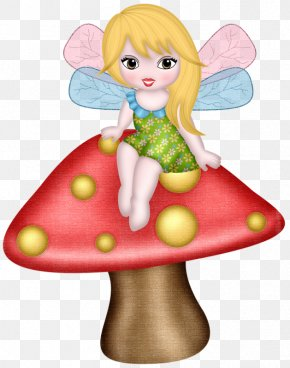 Elf On Mushroom - Fairy Elf Photography PNG