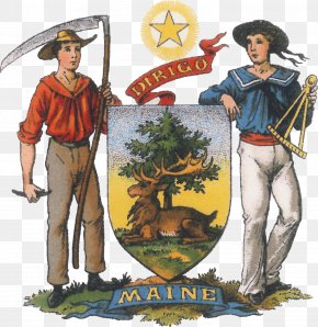 Seal - Seal Of Maine Coat Of Arms Great Seal Of The United States Crest PNG