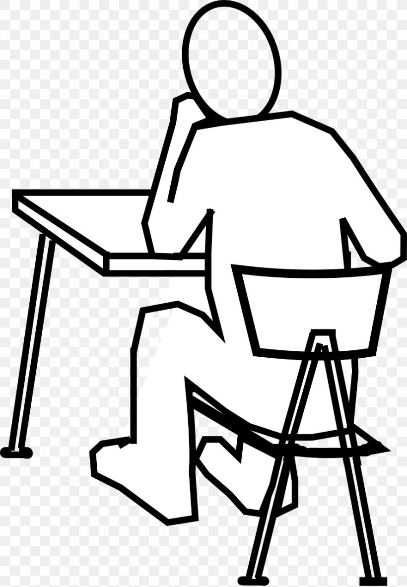 Standing Desk Table Drawing, PNG, 887x1280px, Desk, Area, Artwork, Black, Black And White Download Free