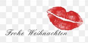 A Big Red Lips - Lip Kiss Euclidean Vector Illustration PNG