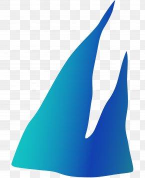 Icicles - Aqua Azure Cobalt Blue Teal Turquoise PNG