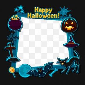 Creative Borders - Halloween Flat Design Illustration PNG