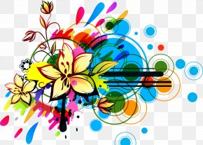 Design Elements - Abstract Art Floral Design Flower PNG