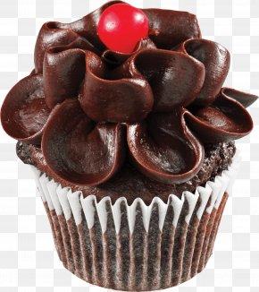 Chocolate Cake - Cupcake Chocolate Cake Birthday Cake Icing PNG