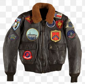 Top Gun - G-1 Military Flight Jacket 0506147919 Leather United States Navy Strike Fighter Tactics Instructor Program PNG
