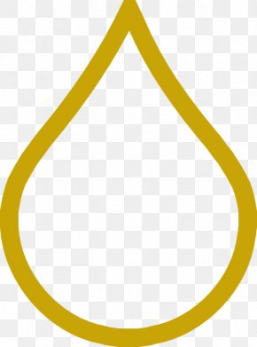 Water Droplet Outline - Area Triangle Yellow Pattern PNG
