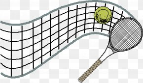 Tennis Racket And Tennis Material - Tennis Racket Volleyball PNG