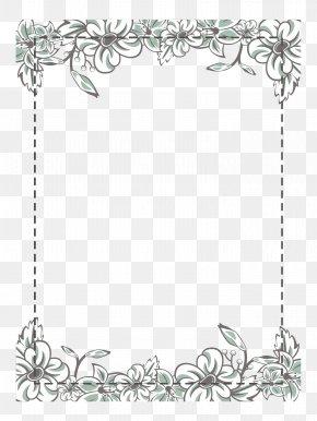 White Flower Frame - Flower Icon PNG