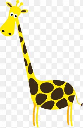 Giraffe Illustrations - Baby Giraffes Giraffe Family Clip Art PNG