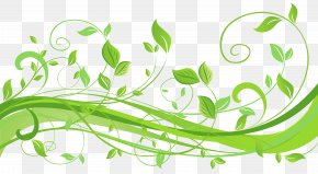 Spring Decoration With Leaves Transparent Clip Art Image - Clip Art PNG