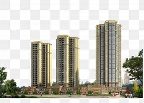 High-rise Residential Real Estate - Condominium Skyscraper Apartment Real Estate PNG
