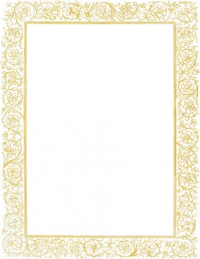 Golden Border Cliparts - Gold Picture Frame Clip Art PNG