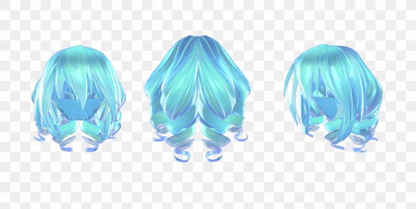 Hairstyle Ponytail Blue Hair MikuMikuDance, PNG, 1712x864px, Hair, Aqua, Art, Azure, Blue Download Free