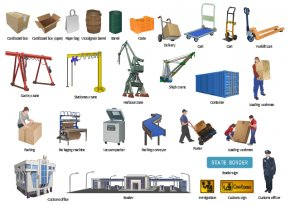 Visio Cliparts - Manufacturing Factory Industry Clip Art PNG