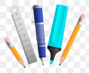 School Supplies Learning Tools - School Supplies Ruler Clip Art PNG
