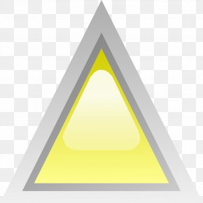 Triangle - Triangle Yellow Clip Art PNG