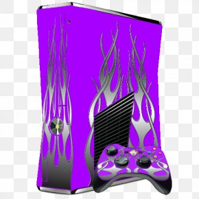 Purple Fire - Xbox 360 S Xbox One Video Game Consoles PNG
