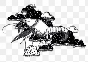 Lobster Black And White - Black And White Drawing PNG