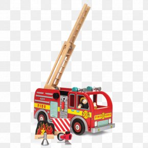 Toy - Toy Fire Engine Car Vehicle Firefighter PNG