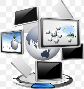 Computer Earth Network Elements - China Industry Cloud Computing Information Technology Computer Programming PNG