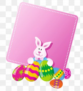 Pink Easter Blank Clipart Picture - Easter Bunny Easter Egg Clip Art PNG