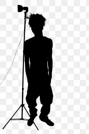 M Angle Shoulder Line - Microphone Black & White PNG