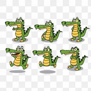Vector Crocodile Posture - Alligator Mascot Clip Art PNG