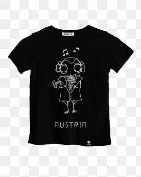 Black T-shirt Design - T-shirt Clothing Sleeve Crew Neck PNG