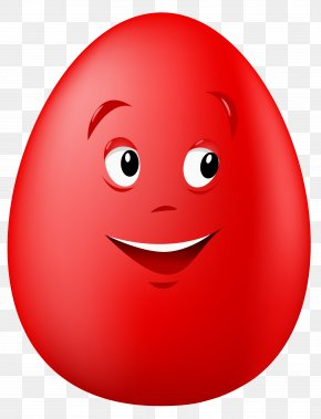 Red Smile Cliparts - Red Easter Egg Smile Clip Art PNG