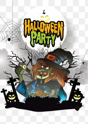 Vector Halloween Witch - Halloween Euclidean Vector PNG