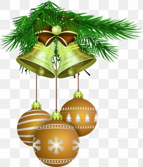 Green And Fresh Bell Decoration Pattern - Christmas Tree Wish Greeting Card Happiness PNG