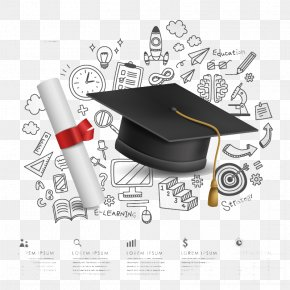 Campus Graduation Background Element Vector Material PNG