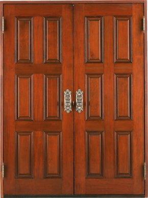 Door - Door Solid Wood Hardwood Teak PNG