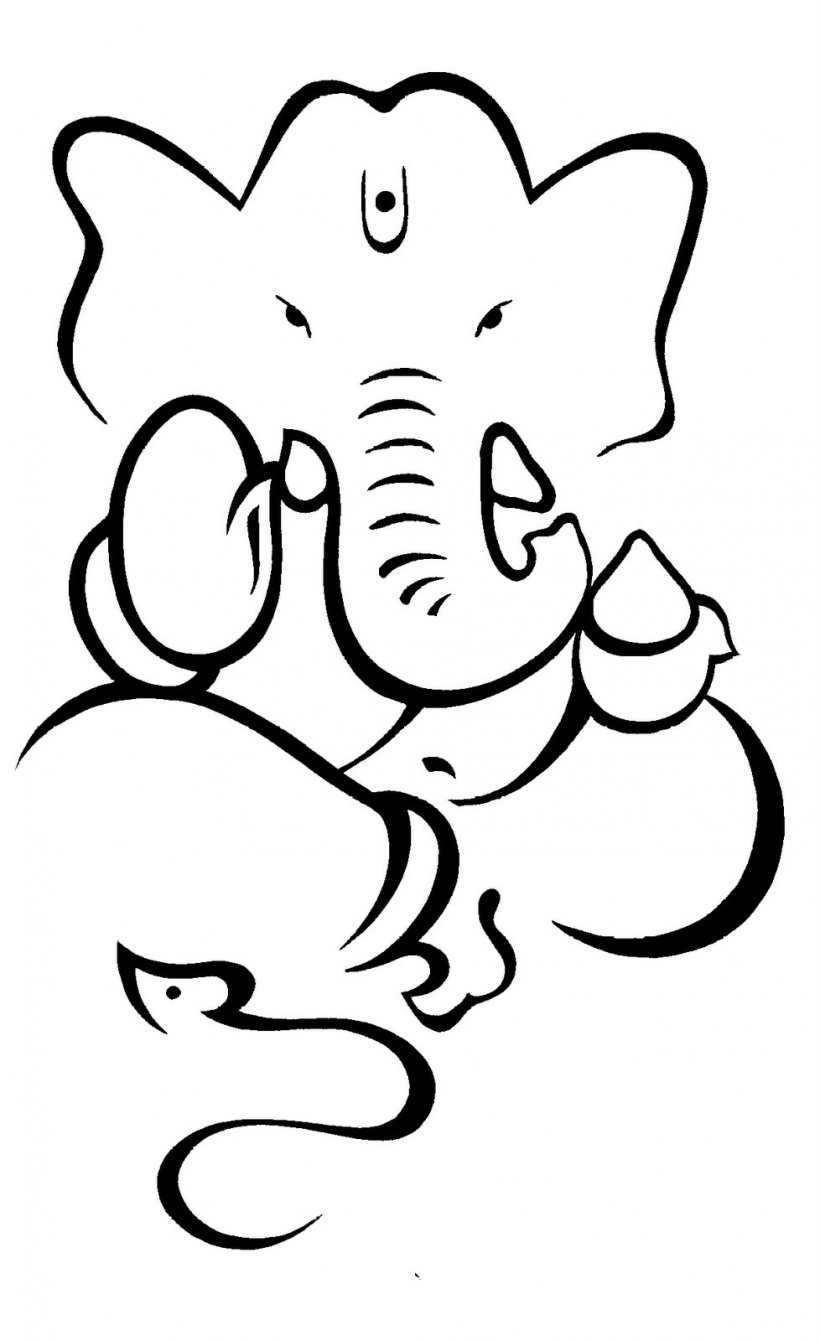 Ganesha drawing sketch png 978x1600px watercolor cartoon