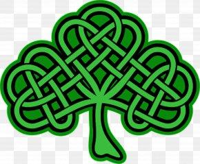 Celtic Shamrock Cliparts - Shamrock Celtic Knot Celts Four-leaf Clover Clip Art PNG