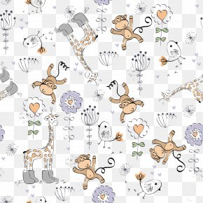 Vector Monkey Background - Drawing Cartoon Monkey Clip Art PNG