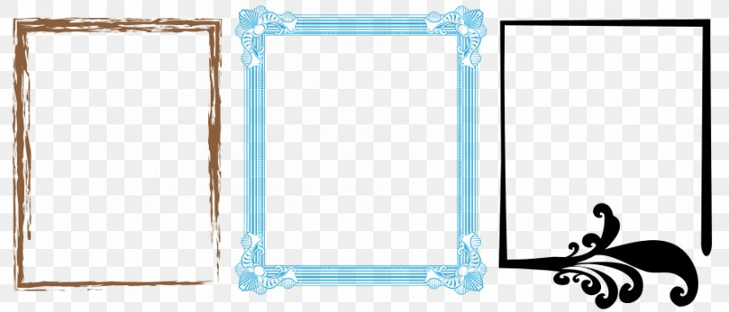 Borders And Frames Picture Frame Film Frame Clip Art, PNG, 900x386px, Borders And Frames, Area, Blue, Brand, Decorative Arts Download Free