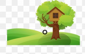 Vector Tree House - Tree House Illustration PNG