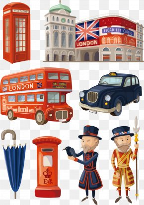 London Exquisite Design Elements Vector Material, - Cartoon London Illustration PNG