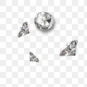 Diamond - Crystal Silver Diamond Body Piercing Jewellery Art PNG