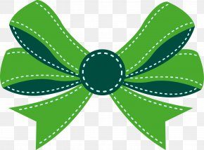 Little Fresh Green Bow Tie - Shoelace Knot Bow Tie Ribbon Icon PNG