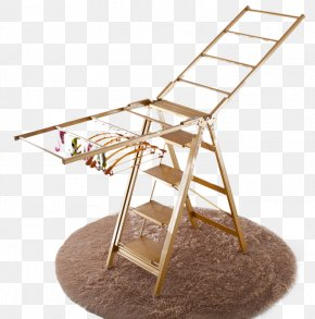 Huafeng Drying Racks, Ladder Racks Balcony - Clothes Hanger Clothes Horse Floor Ladder Balcony PNG