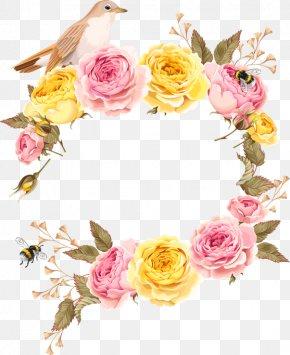 Beautiful Roses Invitation Design Vector Material - Wedding Invitation Flower Illustration PNG