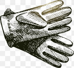 Black And White Gloves Vector - Black And White Glove Euclidean Vector Hand PNG