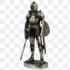 Knight - Plate Armour Middle Ages Knight Figurine Statue PNG