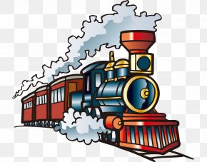 Hand-painted With Cartoon Steam Train - Train Hay Springs High School Clip Art PNG